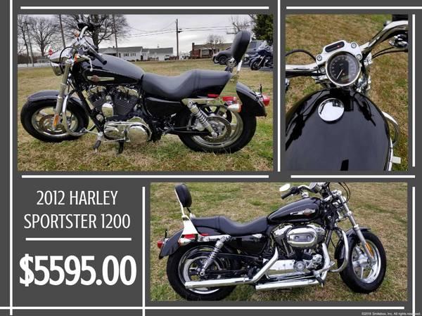 Photo 2012 HARLEY DAVIDSON 1200 SPORTSTER FOR SALE - $5,595 (7507 DALLAS CHERRYVILLE HWY. CHERRYVILLE, NC)
