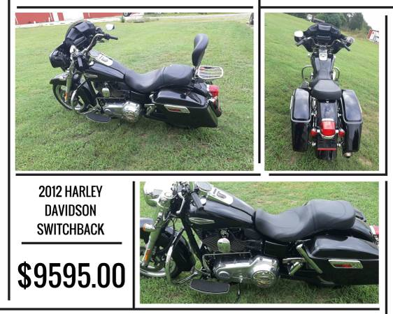 Photo 2012 HARLEY DAVIDSON DYNA SWITCHBACK FOR SALE - $9,395 (Cherryville)