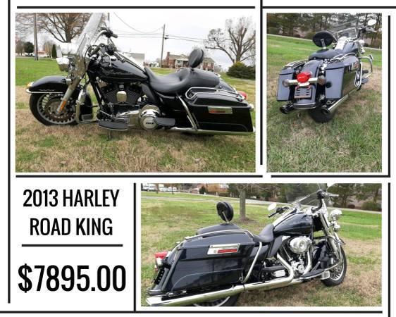 Photo 2013 HARLEY DAVIDSON ROAD KING FOR SALE - $7,895 (7507 DALLAS CHERRYVILLE HWY. CHERRYVILLE, NC)