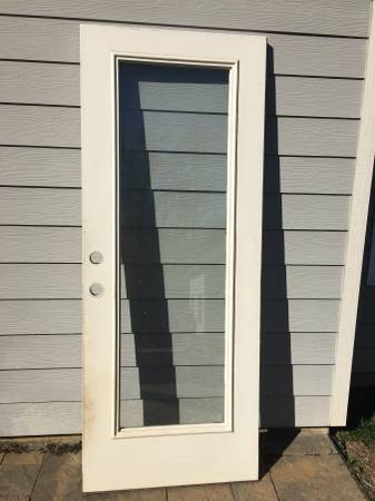 Photo 32quotx 80quot Exterior door with full view glass insert - $75 (INDIAN LAND)