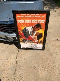 Photo ($35) Classic Gone With The Wind Framed Movie Poster ($35) - $35 (Charlotte)