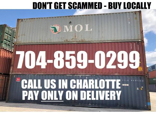 Photo 40 FT STEEL STORAGE CONTAINERS conex box shipping container PODS shed (Local in Charlotte)