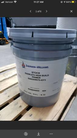 Photo 5 Gallon Bucket of Sherwin-Williams Stock E60WL670 High Build Primer - $65 (Mooresville)