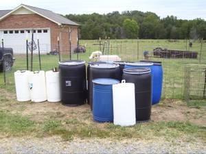 Photo Barrels for Water, Make Dog House, Burning, Deer Corn and IBC Totes (midland)