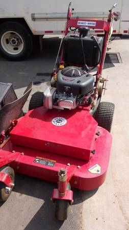 Photo Bradley Walk Behind Mower 36quot With Bagger and Sulky - $2,499 (Matthews)