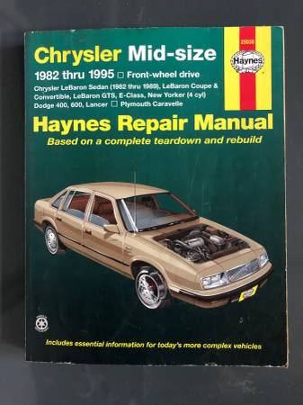 Photo Chrysler manual  parts - $20 (Fort Mill, SC)