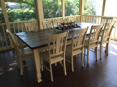 Photo Custom Built Farm Tables at a Low Price (Gastonia Custom Furniture Painting by Joey Jones)