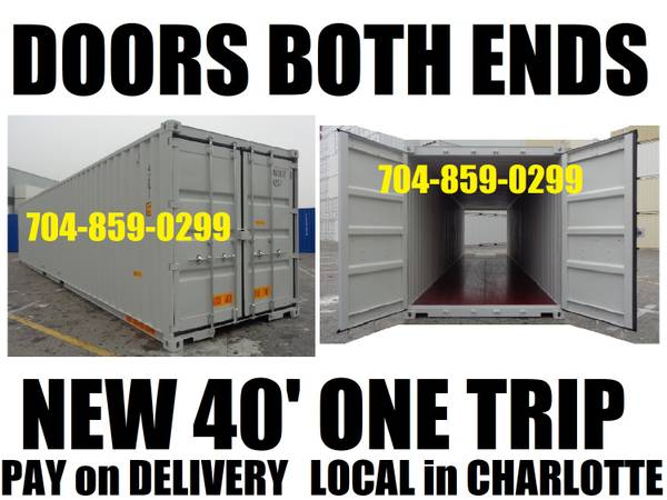 Photo DOORS BOTH ENDS one trip steel storage containers conex container PODS (CHARLOTTE39S FINEST CONTAINERS)