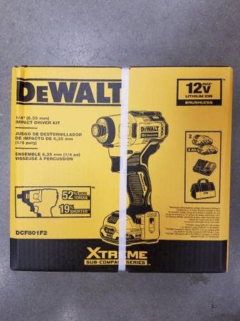 Photo Drill Cordless Combo Set DeWalt Impact Driver NEW - $135 (South Charlotte)