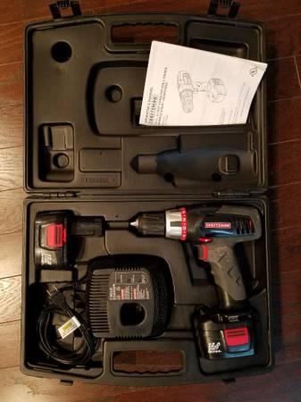 Photo Drill Cordless Craftsman Combo Set 2 Batteries Hard Case - $75 (South Charlotte)
