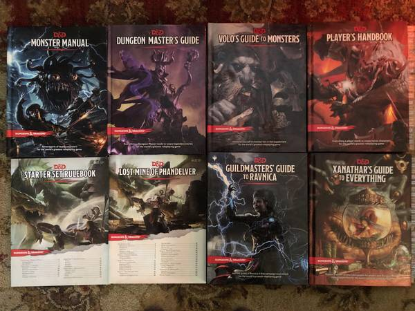 Photo Dungeons and Dragons books - $20 (Sheffield Park)