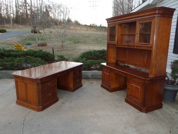 Photo Executive Computer Desk set made by Stanley Furniture - $2,240 (Gastonia)