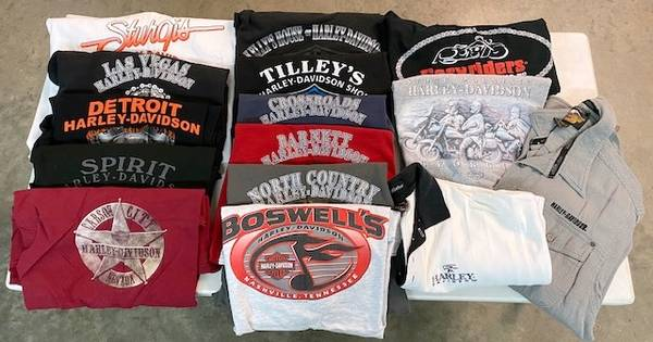Photo Harley-Davidson  Motorcycle Related Shirts (35-40) - $100 (Mooresville)
