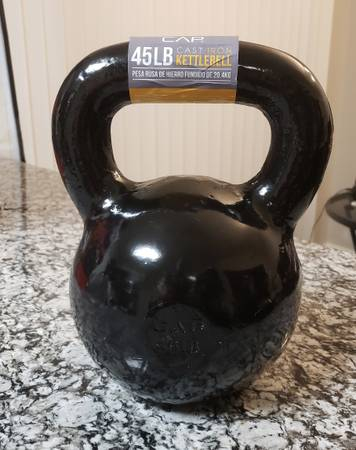 Photo Kettlebell 45 lb. Cast Iron Barbell - $95 (Charlotte)