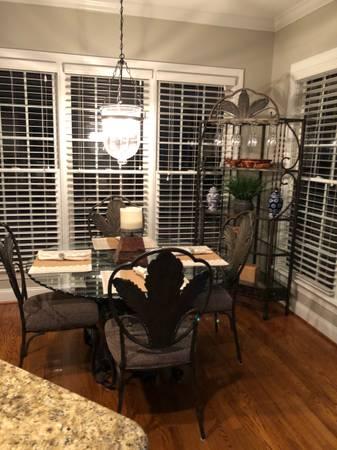 Photo Kitchen table chairs and wine rack - $300 (Waxhaw)