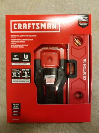 Photo Level And Stud Finder Craftsman 9 Inch NEW - $30 (South Charlotte)