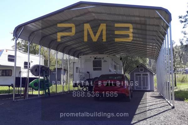 Photo Metal RV Covers, Carports and Garages - $1,495 (and up North Carolina)