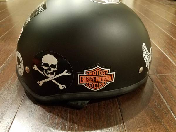 Photo Motorcycle Helmet Bilt Half Shell With Stickers NEW - $100 (South Charlotte)