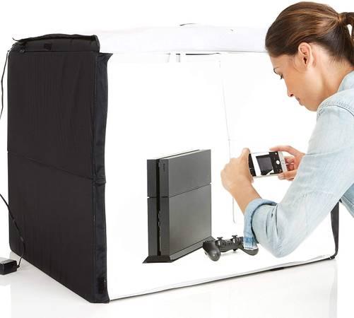 Photo Portable Foldable Photo Studio Box with LED Light - NEW - $90 (Charlotte, NC)