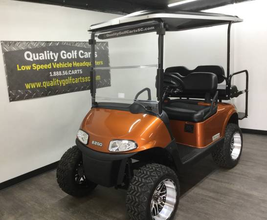 Photo RED HOT deal on a 2016 EZ Go RXV LIFTED golf cart - 1 yr warranty - $6199 (Rock Hill)