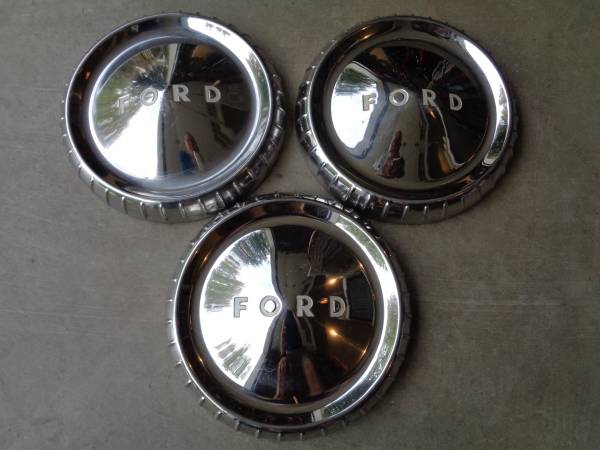 Photo Set of 3 Vintage 196039s FORD Dog Dish Bottle Cap Hubcaps - $75 (Concord)