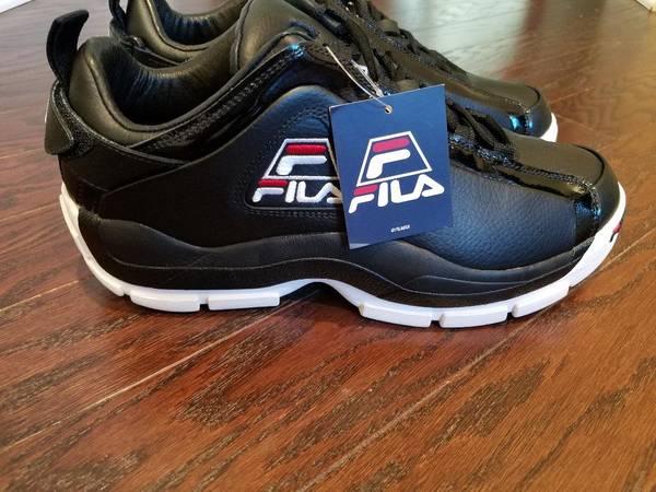 Photo Shoes Mens Lowcut Fila Black NEW - $50 (South Charlotte)