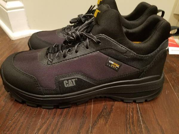 Photo Shoes Mens Work Shoes CAT Lowcut Steel Toe NEW - $60 (South Charlotte)