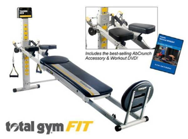 Photo WILL DELIVER-BRAND NEW TOTAL GYM FIT-AB CRUNCH,BOXED ATTACHMENTS,DVD - $700 (MOORESVILLE)