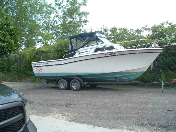 Photo 1987 Grady White 25 Sailfish outboard with trlr no motors NEW TRANSOM - $5,900 (Dunkirk)
