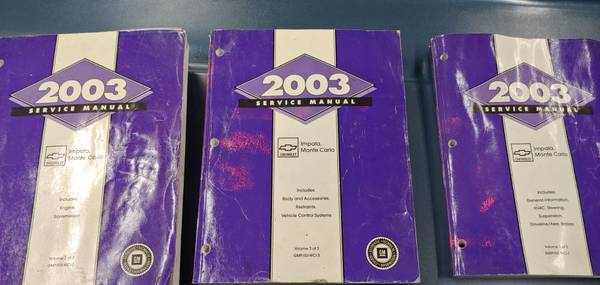 Photo 2003 Chevy factory manuals - $10 (Dunkirk)