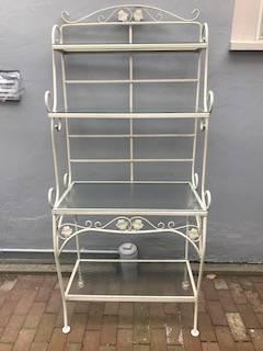 Photo Baker39s Display Rack with 4 Glass Shelves - $125 (Chautauqua)