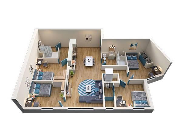 Photo New Newly Constructed Luxury Apartment Room for Rent near UB (University of Buffalo)