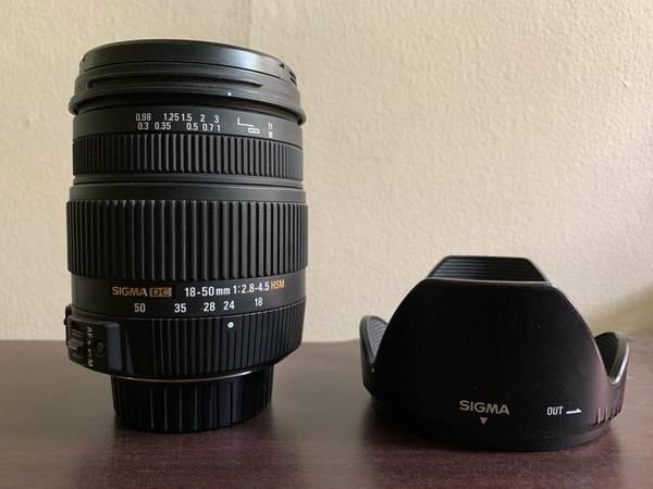 Photo Sigma DC 18-50mm f2.8-4.5 Nikon F-mount - $60 (Allentown)