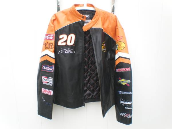 Photo TONY STEWART THE HOME DEPOT Leather Jacket Wilsons Chase Authentics S - $50 (Williamsville)