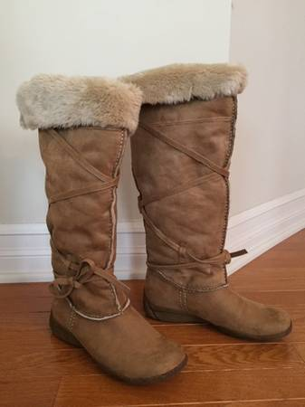 Photo Tan Tall Suede Boots - $50 (DepewLancaster)