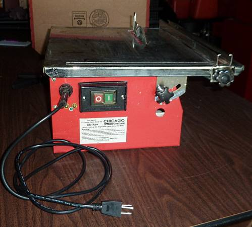 Photo Wet Cutting Tile Saw Chicago Electric Power Tool 7 Portable Model 4 - $38 (Fredonia)