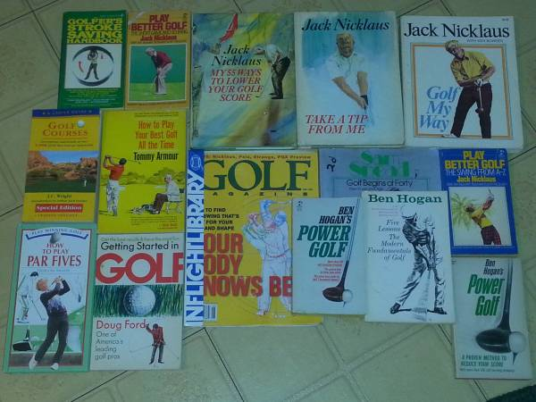 Photo 13 different used golf books - $40 (Chicago northwest side)