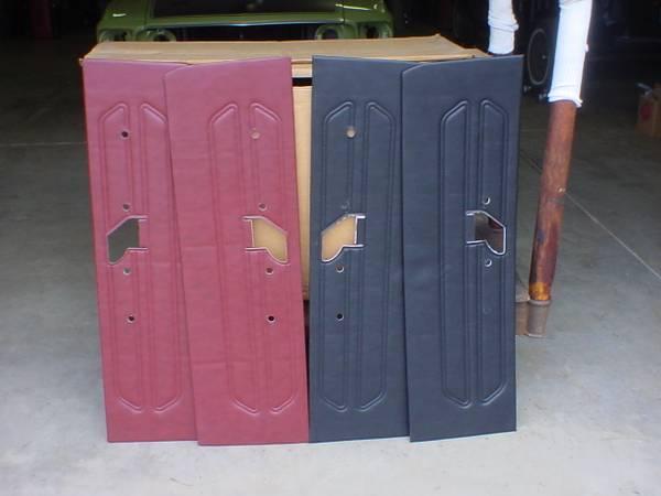 Photo 1969 mustang NEW red std door panels - $35 (Maple Park)