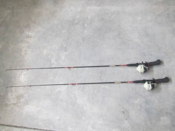 Photo 2 Zebco 404 Fishing Reels with Rods - $20 (Whiting, IN)