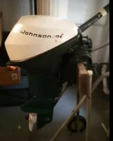 Photo 39The Million Dollar Fishing Motor39 Johnson Evinrude 9.5 outboard 9.9 - $450 (Jefferson Park Chicago)