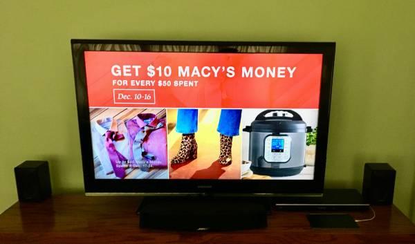 Photo 46quot Samsung HDTV - $250 (W. Rogers Park)