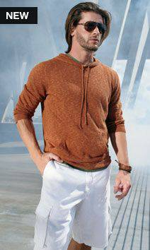 Photo BRAND NEW Marc Anthony hooded sweater burnt orange LARGE - $29 (Lombard)