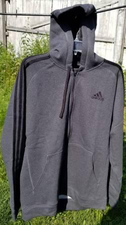 Photo BRAND NEW SIZE L Adidas Men39s Essentials Cotton Fleece Full-Zip Hoodie - $35 (LOMBARD)
