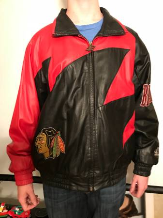 Photo Chicago Blackhawks leather coat - $225 (Park Ridge)
