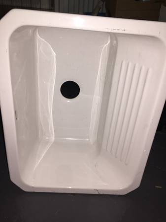 Photo Dekor Sink 31000UM Cast Acrylic Single Bowl Utility Sink 25quot White - $35 (West Loop)