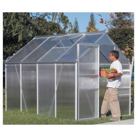 Photo FULL Greenhouse 6ft 8ft Polycarbonate Alluminium Frame NEW Green house - $325 (Kildeer)