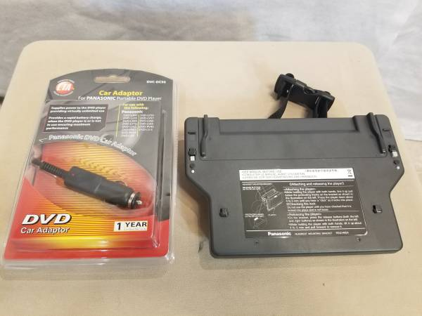 Photo Headrest mounting bracket  power cord for Panasonic DVD screen - $25 (west Andersonville, Chicago)