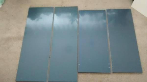 Photo Ikea Hi Gloss Gray quotAbstraktquot Kitchen Drawer Fronts - LAST CHANCE - $20 (Addison)
