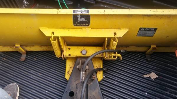 Photo John Deere Snow Plow U054H405464M with hydraulics and wheel weights - $500 (Sleepy Hollow)