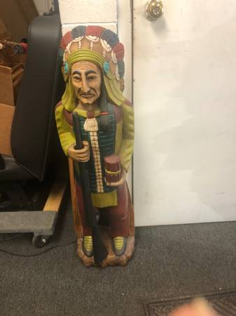 Photo Man Cave 5 cent slot Wood Cigar Store Indian - $1 (Lake Barrington)
